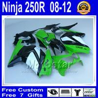Wholesale N258 white lime green black fairings for Kawasaki Ninja R ZX250R ZX EX250 bodywork fairing kit