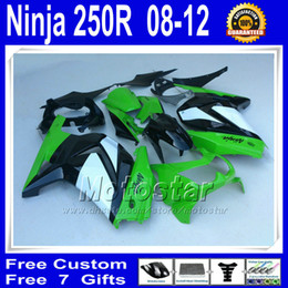 Wholesale N258 white lime green black fairings for Kawasaki Ninja R ZX250R ZX EX250 bodywork fairing kit