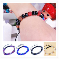 Wholesale 2014 New style Fashion DIY Shamballa bracelets Hand woven bracelets Disco Diamond Bracelets