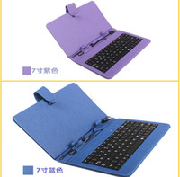 best keyboard stands - inch Keyboard Leather Case Cover Keyboard Flip Stand USB Tablet PC ePad Best selling