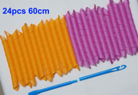 Wholesale 2014 New Professional Hair Styling Accessory cm Super Long Magic Hair Curler Curling Magic Hair Rollers Styler