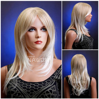Wholesale medium long blond wigs for women high quality synthtic hair wigs miss wigs online natural hair wigs