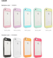 Wholesale 100 New Arrivals Glowing Light Cell Phone Accessories High quality Cases Cover TPU PC With Retail package For iphone S