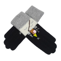 Fingerless Gloves other Black Winter Women wool cashmere wool yarn thermal gloves romantic Christmas gift