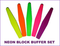 Wholesale 20PC NEON Rhombus Spong File Set different grit