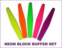 Wholesale 20PC NEON Rhombus Spong File Set different grit