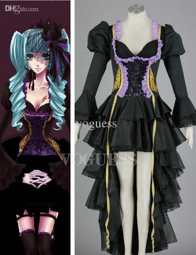 Top Vocaloid Hatsune Miku Two Piece Anime Cosplay Costumes Halloween Anime Cosplay Anime Nurse ...