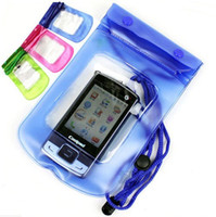 Wholesale 12pcs Waterproof Phone Bag watertight Protection Cell Phone Watertightness Cases Swim Diving Surf Wallet CM