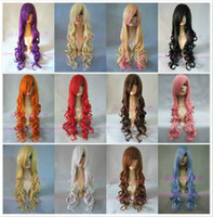 Wholesale High quality long curly hair wig High simulation color optional trim length cm cosplay sex doll