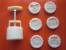 Wholesale 5 sets food grade round plastic cake tools caking cutting cake maker