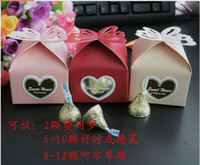 Wholesale Wedding Favour Boxes Paper Color Creative Personalized European Hollow Butterfly Candy Box