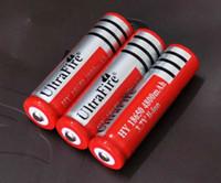 Wholesale 50x Ultrafire Li ion Rechargeable Battery V mAh mahfor LED Torch Flashlight Digital Camera