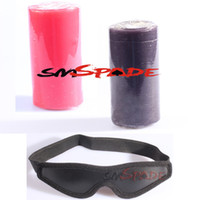 Wholesale 1 Candle Blindfold CB A low temperature safe wax candles with sexy black blindcold bougie drop shipping glim