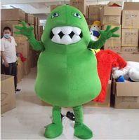Unisex bacteria animal - New Custom made Green Germ Mascot Costume Green Bacteria Monster Mascot Costume Virus Mascot Costume