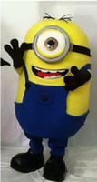 Wholesale Hot New Arrival New special Minions Mascot Costume one eye new adults size