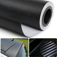 Carbon Fiber Vinyl Film carbon fiber sheet - 3D carbon fiber vinyl WRAP air drain hot selling car sticker carbon fiber sheet mx30cm thickness mm