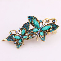 Barrettes & Clips   The new professional wholesale vintage antique butterfly clip crab dish court issuing sub- step shake hair accessories mixed batch