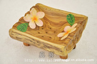 True joy Wood Specifications: Length 14.5cm * Width 13 Teak legs painted bathroom toilet soap, soap dish soap Ventotene care household items
