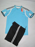 Cheap 11 pieces Soccer unforms,i team suits,custom tracksuits,2014 brasil world cup Shirt+Shorts Football Kit Uniforms