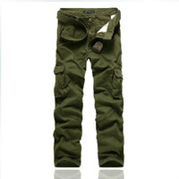 bib overall military - Spring new fashion new men s clothing loose bib overall casual trousers casual military cotton men dress pants