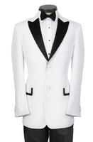 Reference Images Wool Blend Regular G05 (Jacket+Pants+Tie+Vest) Custom Made black white Slim Fit prom Two Buttons Groom Tuxedos Notch Lapel Man Groomsmen Men Wedding Suits