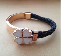 Wholesale Fashiong new style Four flowers bracelet and H bangle Candy colors by epacket