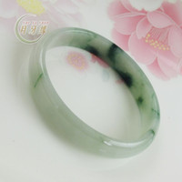 Wholesale A cargo Burma jade crescent edge natural jadeite jade bangle bracelet Royal floating flowers bracelet with a certificate