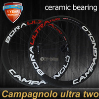 Wholesale Ceramic Bearing HUBS Campay Bora Ultra Two mm bicycle wheels c carbon fiber road bike racing wheelset