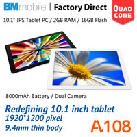 Under $300 BMmobile 10 inch 10.1inch 1920*1200 Retina Screen 2G RAM 16GB ROM Quad core Dual Camera HDMI WIFI Bluetooth Andriod tablet pc