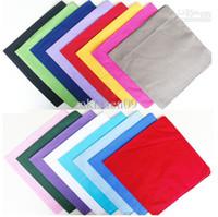 Wholesale 10PX Cotton Pure Solid Color Bandana head wrap scarf Zandana Square
