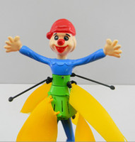 Wholesale Infrared Flying Clown Toys Remote control Palm induction Magic Flying Clown Dolls with English Package