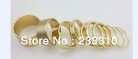 Band Rings   free shipping!40Pcs(4sets) X gold silver tone punk wide thin band rings Knuckle Midi Mid rings Set