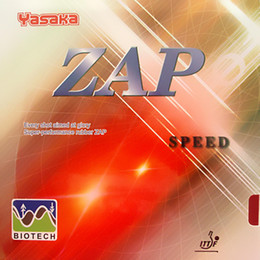 Yasaka ZAP Speed (BIOTECH) NO ITTF Pips-In Table Tennis (Ping Pong) Rubber With Sponge