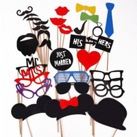 Wholesale 31pcs Funny Mask Photo Booth Props Mustache on Stick Wedding Party Favors