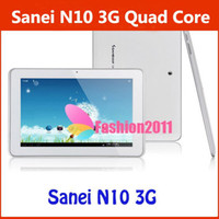 Wholesale 10Inch G Sanei N10 Quad Core Android Tablet PC Dual Camera GB ROM IPS HD Screen GPS WIFI Bluetooth DHL Free