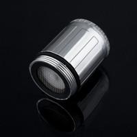 Wholesale 200pcs color jump LED water faucet light Glow Shower Faucet Light Temperature Sensor colour Changing