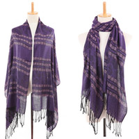 Wholesale 2014 New style Fashion women Voile scarves Printed stripes autumn and winter scarwes pashmina