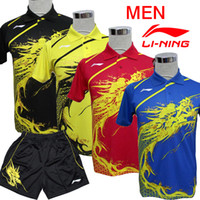 Wholesale 2012 Olympic Game Classic LI Ning Table Tennis Mens Dragon Clothes China team Sports Clothes Table Tennis Clothes