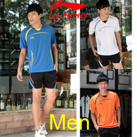 Wholesale Without quot CHINA quot letters China National Team Badminton Shirt Men LI Ning T Shirt Badminton T shirt Jerseys No