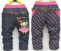 Wholesale Retail new cartoon girl Trousers children jeans children s pants girl pants QQkuzi