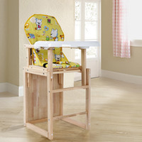 Wholesale Child dining chair solid wood baby dining table and chairs baby dining table chair bb stool seat multifunctional paint dining