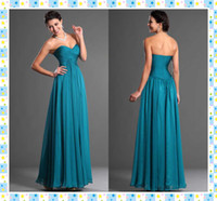 Wholesale DN Long Chiffon Hunter Prom Dresses Inexpensive Sweetheart Zipper Ruched Simple Style Sheath Floor Length Michigan Prom Party Gowns