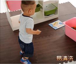 Wholesale Quality Big Size CM Wood Grain Baby EVA Floor Mat Children Kids Play Game Pad Baby Crawl Puzzle Mat Eva Foam Carpet