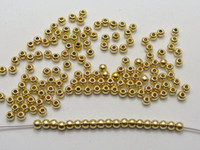 Wholesale 2000 Gold Tone Plastic Round Spacer Beads mm Smooth Ball Beads