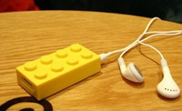 Wholesale Lego brick design MP3 player portable with light weight support USB and TF card or