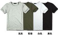 Direto da fábrica - 100pcs Men & amp; # 039; s de manga curta t -shirt masculina apertados homens t -shirt de manga curta T -shirt gola homens compassivos