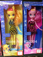 Wholesale 2013 Fashion toys INCH Popular pony girl dolls plastic girls gift toys my little pony equestria girls doll toys
