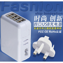 Wholesale Free DHL Portable USB Port Adapter US UK EU AU Wall Charger Plug Power Supply for iPad Smart Cell Phone Samsung S5 S4 APPLE iPhone S