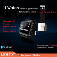 Cheap Bluetooth Smart Watch Newest U Watch 2 High Quality Smartwatch with Phonebook Call MP3 Alarm For iPhone Samsung Huawei Andriod Cell Phone