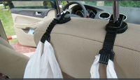 al por mayor ropa de plástico barato-Basura del coche bolsa de plástico Hanger Auto Organizador Ropa Aaccessories Hook Escudo Holder colgantes Hold barato 100Pair / Lote